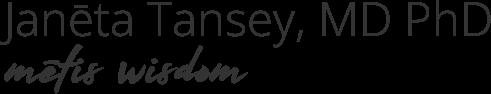 Metis Wisdom Dr Janeta Tansey logo transparent background grey text