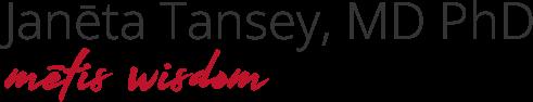 Metis Wisdom Dr Janeta Tansey logo transparent background red text